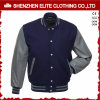 Fashion Plain 100% Polyester Woolen Bomber Jacket Men (ELTBQJ-537)