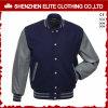 Fashion Plain 100% Polyester Woolen Bomber Jacket Men (ELTBQJ-537)