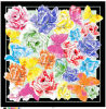 Custom Newest Digital Print Silk Twill Scarf for Lady
