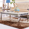 Simple Chinese Marble Top Tea Table and Chairs Teapoy Design