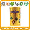 Round Metal Chocolate Can with PVC Window, Chocolate Tin Box