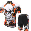 Summer Short Sleeve Cycling Jersey 3D Padded Shorts Bib Set