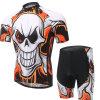 Summer Short Sleeve Cycling Jersey 3D Padded Shorts Bib Set