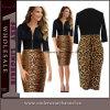 Half Sleeve Leopard Print Cocktail Prom Evening MIDI Dress (6723)