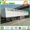 Steel Leaf Spring Suspension 3 Axles Transport Animal Trailer