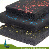 Indoor Use Elastic Fitness Rubber Mat with Colorful Speckles