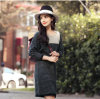 Women′s Cashmere Dress with Round Neck (13brdw056)
