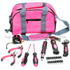 25PC Profssional Hand Tool Ladies Pink Tool Kit (FY1025B1)