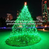 Green Simple LED Big Christmas Tree for Landscape Project