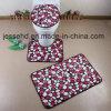 Soft Modern Design Foam Bathroom 3piece Mat Set