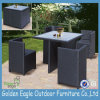 Patio Wicker Furniture Dining Set with Square Table