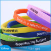 Purple Printed Letters Silicone Bracelet, Silicone Band (A1)
