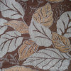 Leaf Pattern Jacquard Chenille Snow 100% Polyester for Sofa
