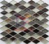 Modern Design Hexagon Ceramic Mix Glass Mosaic (CST210)