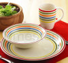 Stoneware 12PCS Handpainted Stripes Dinner Set (TM7516)