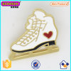 Gold Plated Custom Enamel Ice Skate Pin Wholesale