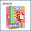 Christmas Design Paper Shopping Bag with Organza Handle