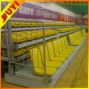 China Durable Public Furniture Retractable Grandstand Chairs Wood Armrest Tip-up Plastic Heavy Duty Telescopic Stand