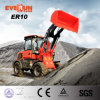 Qingdao Everun 1.0 Ton Farm Front End Mini Wheel Loader with Sweeper