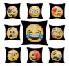 Wholesale Double Color Expression Emoji Color Face Magic Pillow Factory Direct Hot Selling