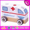 2015 Cartoon Car Ambulance Vehicle Toys for Kids, Push Along Vehicle Ambulance Wood Toy, Promotional Ambulance Vehicle Toy W05c012