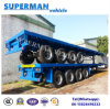 Heavy Duty 4 Axle 80t Cargo Semi Trailer Flatbed Type for Sale