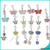 Lovely Rhinestone Butterfly Charms Wholesale (MPE)