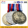 2017 Custom High Quality Gold/Silver/ Bronze Sport Medals with Ribbon
