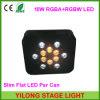 12PCS RGBA+RGBW Flat 4in1 Quad-Color LED PAR Can