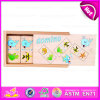 2015 Wooden Domino Kid Learning Abacus Puzzle, Children Wooden Domino Blocks Set, Good Quality Wooden Domino with OEM Logo W15A029