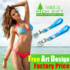 China Factory Supply Cheap Custom Silicone Metal Keychain Wristband