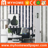 White and Black Striped Wallpaper for Home Decoration
