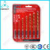 7-Piece Hex Shank Quick Change Tin Coated HSS Drill Bit Set