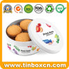 Custom Round Metal Biscuit Treat Tins for Food Storage Box
