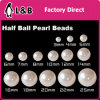 Round White Pearl ABS Plastic Button