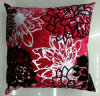 Metallic/Flock Printed Decorative Pillow Metallic Print Cushion (XPL-63)