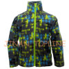 Full Zipper Long Jacket Printed Microfleece