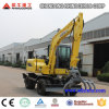 Factory Supply 8t Wheel Excavator for Sale with 4X4 Wd