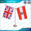 Custom Logo 2 Holders Desk/Table Flag (B-NF09M05004)