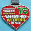 Heart-Shaped Medal with Soft Enamel