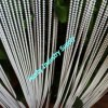 White Vertical Metal Bead String Curtain Divier