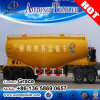 Aotong Tri-Axle 40 Tons 60tons 80tons Dry Bulk Cement Powder Tanker Semitrailer, Cement Bulker Carriers Truck Trailers with Air Compressor