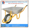 Africa Market 150kg Loading Painted Metal Tray Wheelbarrows