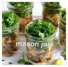 Mason Jar for Salad Wide Mouth Glass Bottle Colored