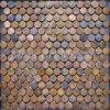 Circle Antique Copper Metal Mosaic Tile (A6YB008)
