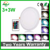 Round RGB Recessed (3+3) W LED Panel Light