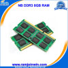 Lifetime Warranty 1024MB*8 8chips Memory DDR3 1600 8GB for Laptop