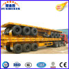 3 Axle Flatbed Platform Container Transport Utility Container Semi Trailer