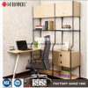 China Manufacture DIY Living Room Display Steel-Wooden Furniture Shelving Rack