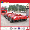 Muti-Axles Low Bed Trailer 100 Ton for Machine Transportation